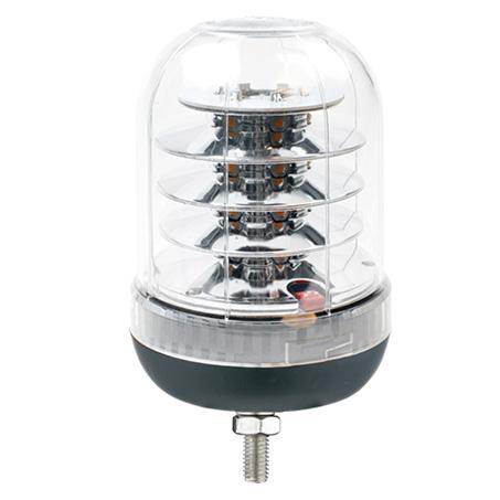 Durite 0-445-26 Single Bolt Clear Lens LED Amber Beacon PN: 0-445-26
