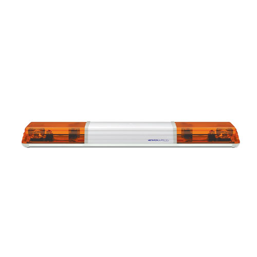 Vision Alert 1200mm 2 Rotators + Illuminated Centre 12v Amber lightbar PN: 604.3A01