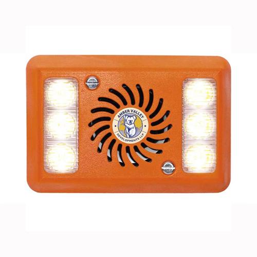 Alarmalight 2 pod WHITE LEDs with tonal alarm PN:AVAL280W