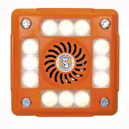 Alarmalight 4 pod WHITE LEDs with Speech and tonal alarm PN:AVAL415CW