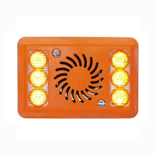 Left Turn INDICATOR12/24v 2 Pod Amber LED ALARMALIGHT PN: AVAL-14CLHO