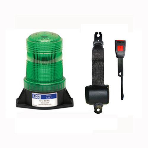Electric Seat Belt & Green LED 12-80V 2 bolt Beacon PN:6262g/ESB