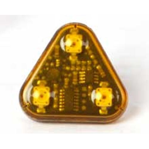 Vision Alert 24v 3 head LED Amber prism PN 100.565