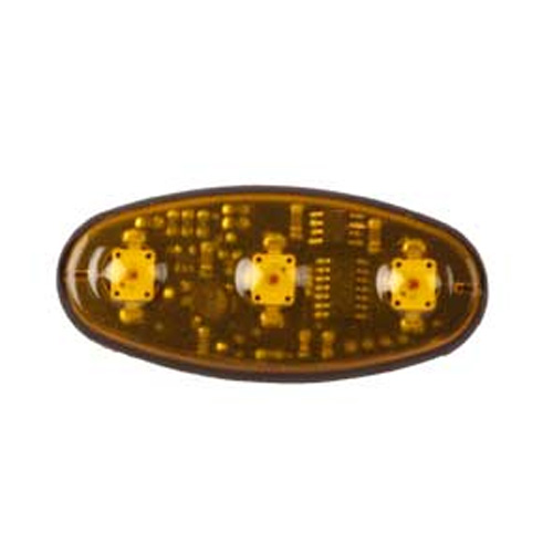 Vision Alert 24v 3 head Amber LED Ellipse  PN:100.561