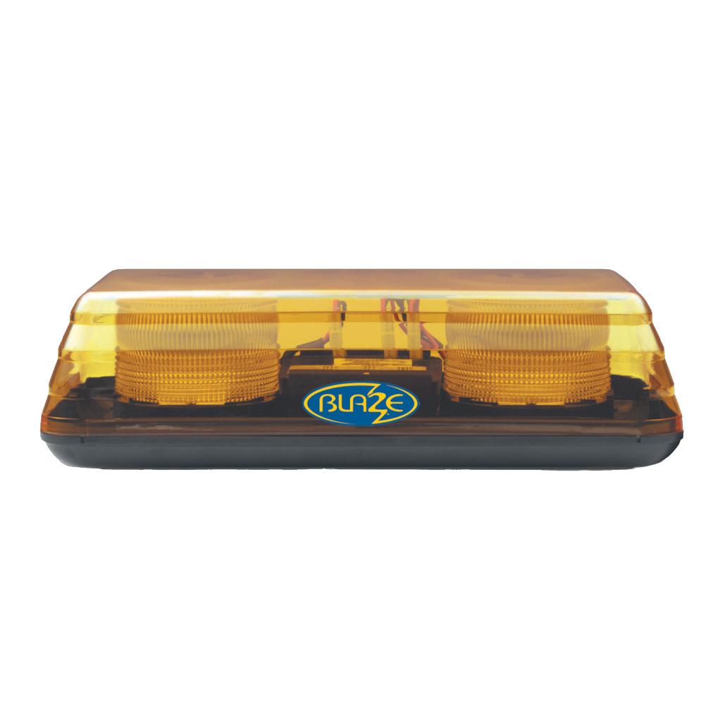 Vision Alert Blaze II 10-48v 1 Bolt Fixing Amber LED Mini lightBar PN:65.00203