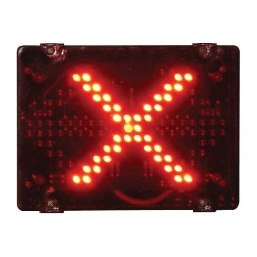 Deegee IPN/010 230Vac Pulsed LED Cross signal - IPN/AC/230/LED/010/R