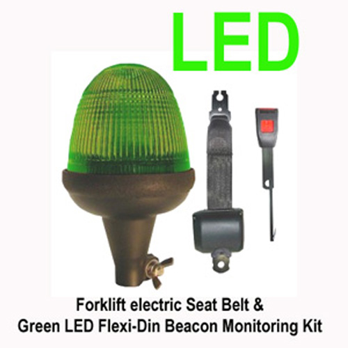 Electric Seat Belt & Green LED Flexi-Din BeacoN PN:LMB040g.kit