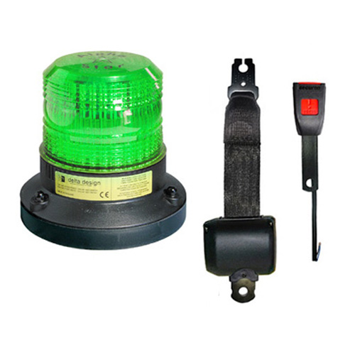 Plant Electric Seat Belt & Green LED Beacon PN:101G/ESB
