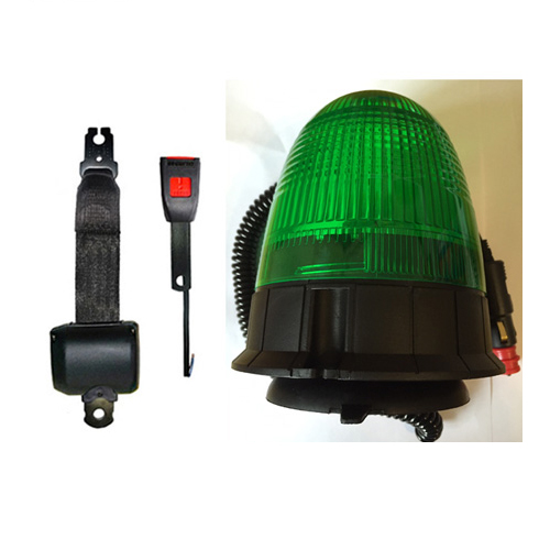 Magnetic Mount Green Plant Digger Rotating Flashing LED Strobe Beacon