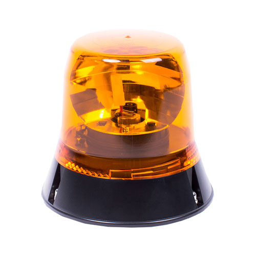 Vision Alert Single Bolt Fixing 12v Rotating Amber Beacon Low profile PN:401.002