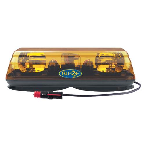 Vision Alert Blaze II 24v Magnetic Rotating Amber Mini lightBar PN: 601.AA02.M
