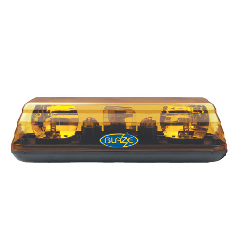 Vision Alert Blaze II 12v 2 Bolt Fixing Rotating Amber Mini lightBar PN:601.AA01