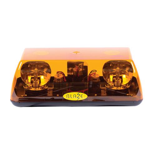 Vision Alert Blaze 1 24v 2 Bolt Fixing Rotating Amber Mini lightBar PN: 701.002