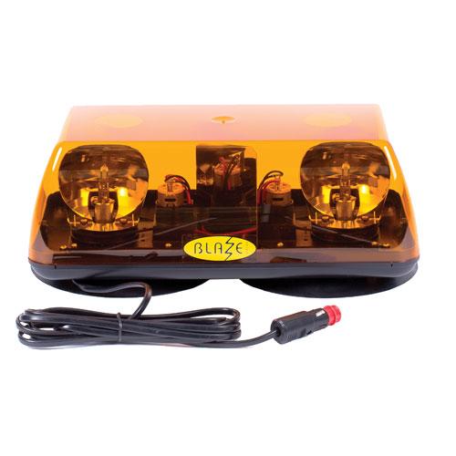 Vision Alert Blaze 1 12v Mag70 Rotating Mount Amber Mini lightBar PN:701.001.BAA