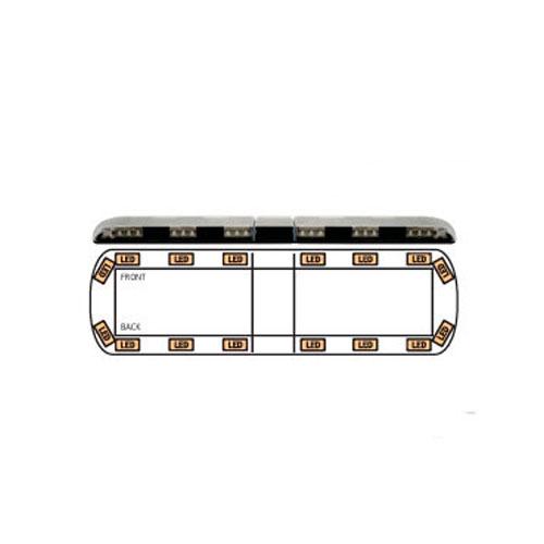 Ecco 12+ Series Reg65 1372mm 16 Amber LED Lightbar PN: 12-30010-e