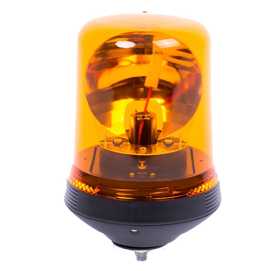 Vision Alert Single Bolt Conical Fixing 12V or 24V Amber Beacon [PN: 508.000] High profile