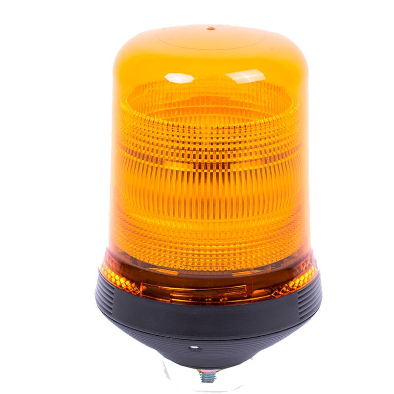 Vision Alert Xenon 10-48v Xenon Dble Flash Single Bolt Conical Amber Beacon [PN: 518.0D0]