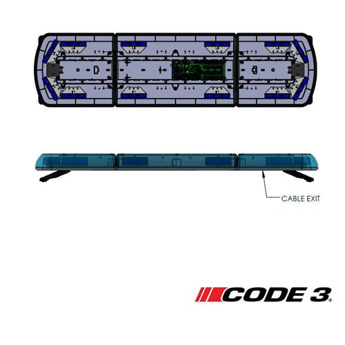 Code 3 12+ Series Reg65 1.07m Blue Lens 12 LEDs Lightbar PN:12-30185-c