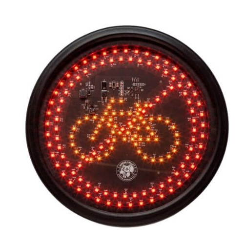 Amber Valley AVCSWL03 Round Red/Amber LED Cycle warning sign PN: AVCSWL03