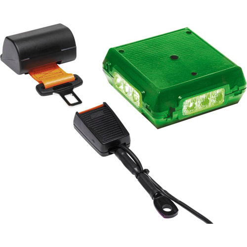 Amber Valley LED Green beacon and Electric Lap Belt PN:AVSBW1LEDG
