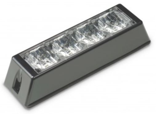 LED Autolamps 12/24v Amber 4 LED Strobe  PN: LED4DVA