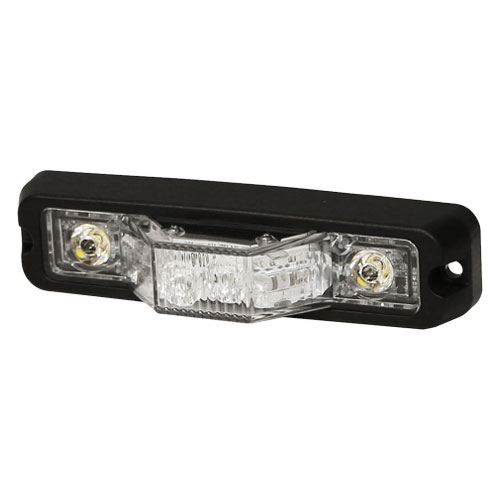 ECCO Vision Alert ED3777 Series R65 180 Degree Intersection Amber LED Strobe PN: ED3777a