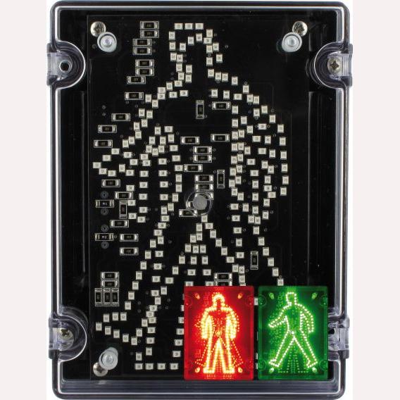 Deegee IPN/022 115Vac LED Walking/Standing Pedestrian Signal: IPN/AC/115/LED/002/R/G