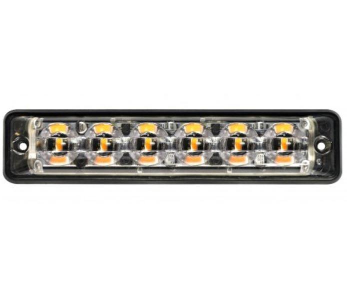 LED-Autolamps Slimline 12/24v 6 Mod LED Warning Lamp PN: SSLED6DVAR65