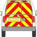 Full Rear Prismatic Chapter 8 Chevron Kit for a Small Van PN: Full_SM_VAN