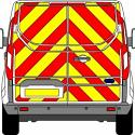 Full Rear Prismatic Chapter 8 Chevron Kit for Medium Van PN:M_VAN_Full